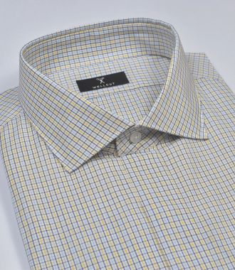 The Felix, Yellow Navy Check Shirt