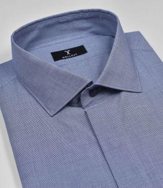 The Caleb, Navy Shirt