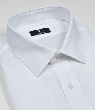 The Russell, White Linen Shirt