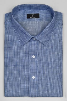 The Stewart, Blue Check Shirt