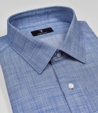 The Stewart, Blue Check Shirt