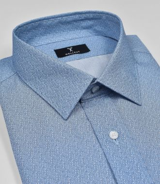 The Terrance, Blue Print Shirt