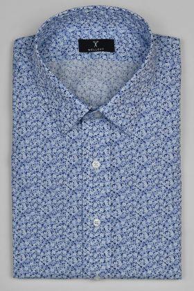 The Gavin, Blue Print Shirt