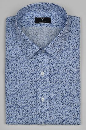 The Gavin, Blue Print Shirt