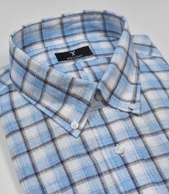 The Alexander, Blue Check Shirt