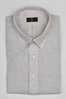 The Samuel, Cream Linen Shirt