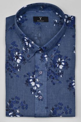 The Noah, Blue Print Shirt
