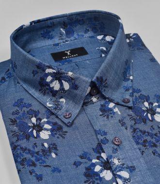 The Noah, Blue Print Shirt