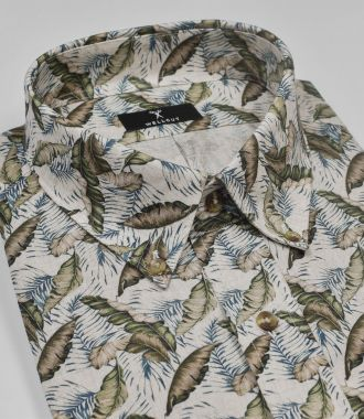 The Aiden, Green Print Shirt