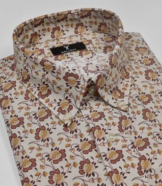 The Joseph, Tan Print Shirt