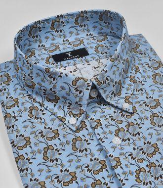 The Logan, Blue Print Shirt