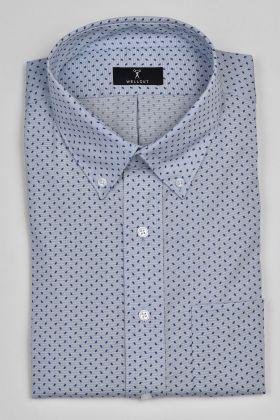 The Henry, Blue Print Shirt