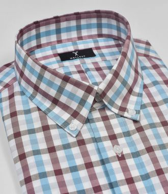 The Lucas, Blue & Red Check Shirt
